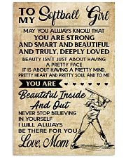 TO MY Softball Boy Mom 11x17 Poster front