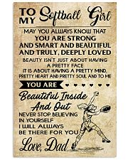 TO MY SOFTBALL GIRL - DAD 16x24 Poster front
