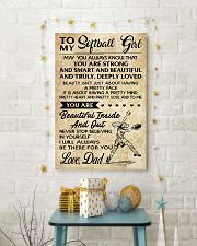 TO MY SOFTBALL GIRL - DAD 16x24 Poster lifestyle-holiday-poster-3