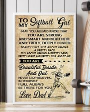 TO MY SOFTBALL GIRL - DAD 16x24 Poster lifestyle-poster-4