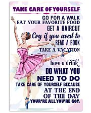 Take care of yourself - DANCE 11x17 Poster front