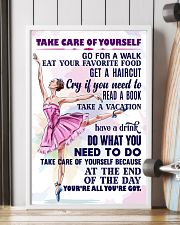 Take care of yourself - DANCE 11x17 Poster lifestyle-poster-4