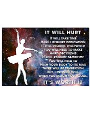 it will hurt dance 17x11 Poster front