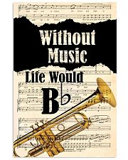 WITHOUT MUSIC LIFE WOULD - TRUMPET POSTER 11x17 Poster front