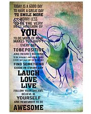 SWIMMING - TODAY IS A GOOD DAY POSTER 11x17 Poster front
