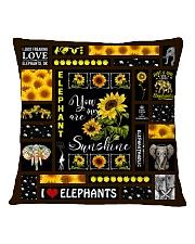 ELEPHANT DECOR PILLOWCASE 3 Square Pillowcase back