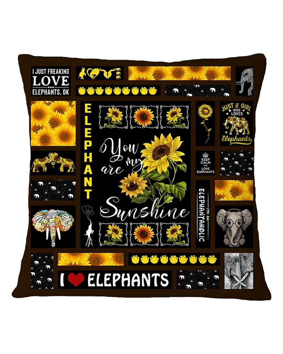 ELEPHANT DECOR PILLOWCASE 3 Square Pillowcase
