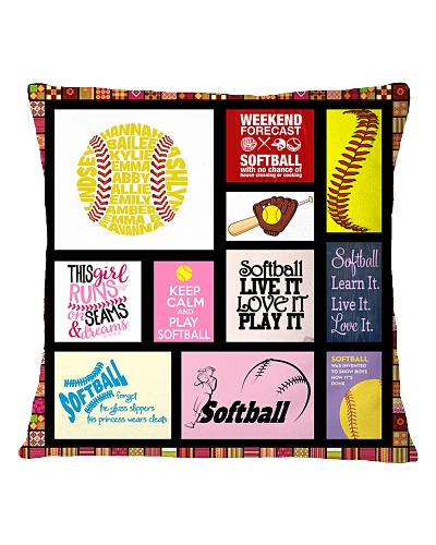SOFTBALL DECOR PILLOWCASE