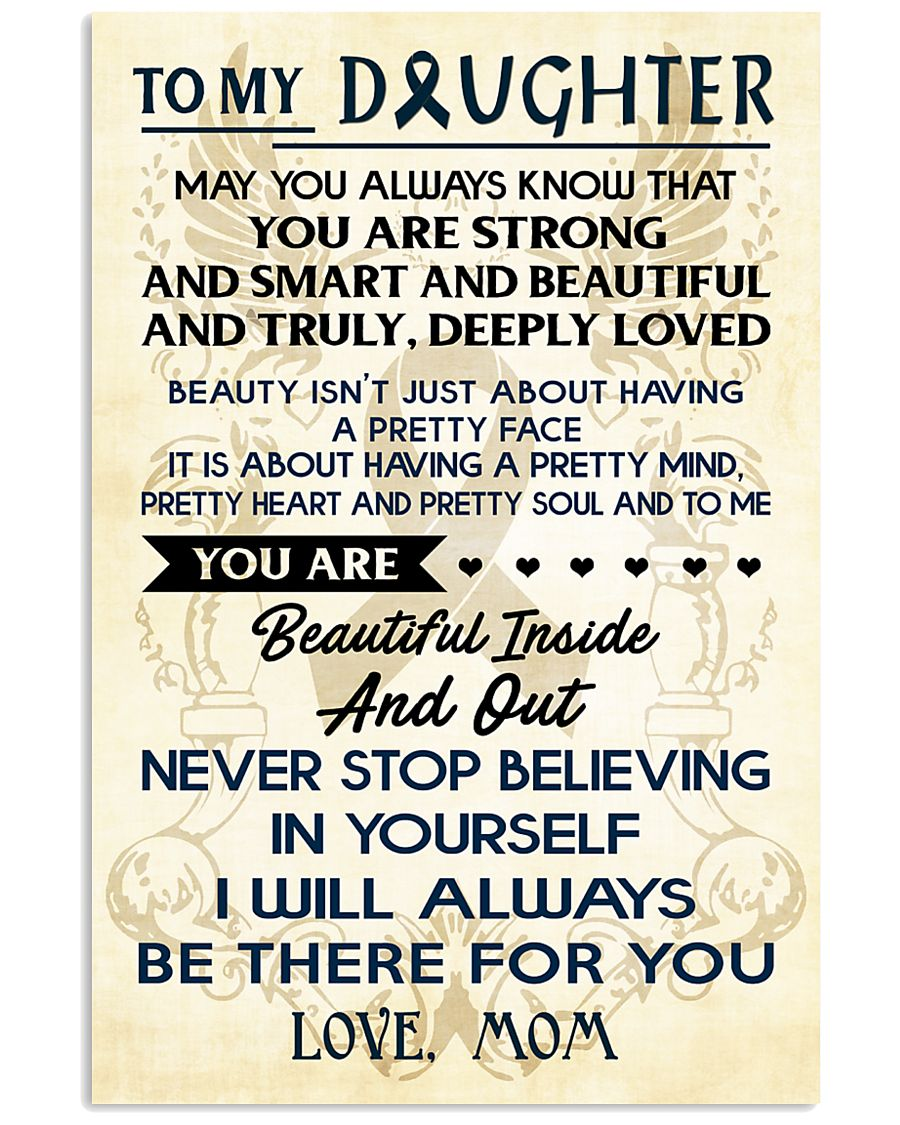 TO MY DAUGHTER - LOVE MOM 11x17 Poster