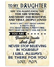 TO MY DAUGHTER - LOVE MOM 11x17 Poster front
