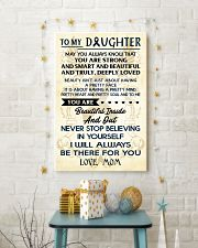 TO MY DAUGHTER - LOVE MOM 11x17 Poster lifestyle-holiday-poster-3