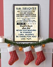 TO MY DAUGHTER - LOVE MOM 11x17 Poster lifestyle-holiday-poster-4