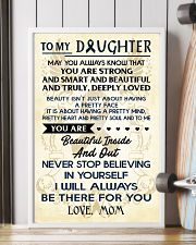 TO MY DAUGHTER - LOVE MOM 11x17 Poster lifestyle-poster-4