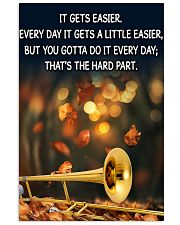 Trombone It Gets Easier Poster 11x17 Poster front