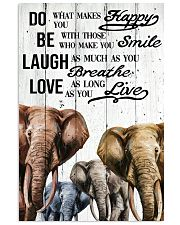 ELEPHANT DO BE LAUGH LOVE POSTER 11x17 Poster front