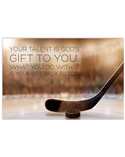 hockey- your talent is god's poster LQT