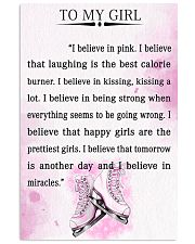 SKATING- I BELIEVE IN PINK 16x24 Poster front