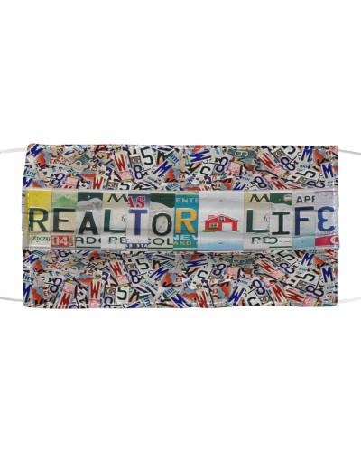 realtor life license plates mask