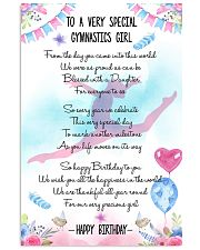 GYMNASTICS PAISLEY FLOWER 11x17 Poster front