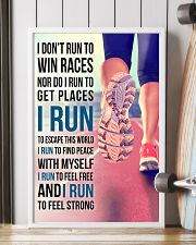 I DON'T RUN TO WIN RACES 11x17 Poster lifestyle-poster-4