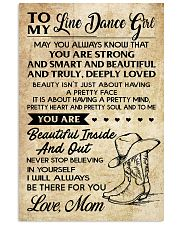 TO MY LINE DANCE 16x24 Poster front