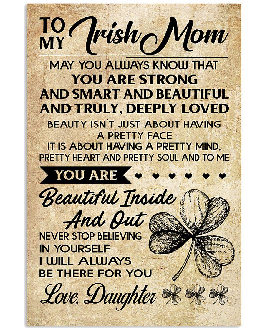 TO MY Irish MOM DAUGHTER 16x24 Poster