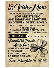 TO MY Irish MOM DAUGHTER 16x24 Poster front