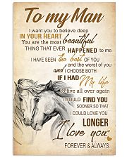 HORSE- TO MY MAN I WANT YOU TO BELIVE DEEP POSTER 11x17 Poster front
