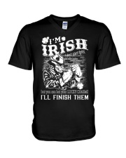 fighting irish V-Neck T-Shirt thumbnail