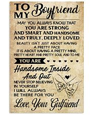 TO MY BOYFRIEND- YOUR GIRLFRIEND 16x24 Poster front
