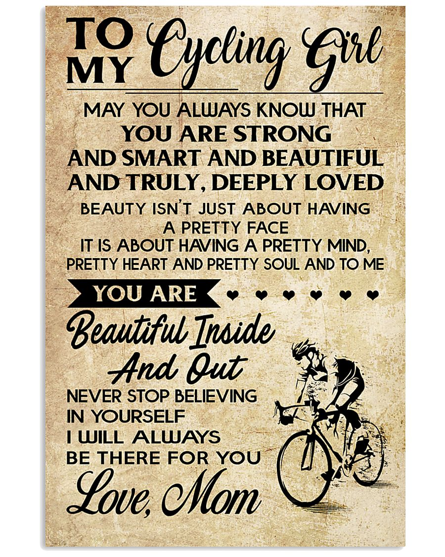 TO MY cycling GIRL- MOM 16x24 Poster