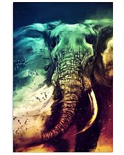 Elephants Broken Watercolor Poter 11x17 Poster front