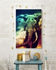 Elephants Broken Watercolor Poter 11x17 Poster lifestyle-holiday-poster-3