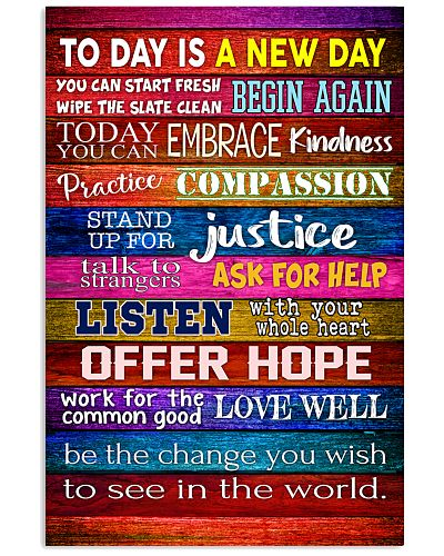 social worker- today is a new day poster