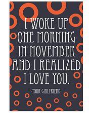 NOVEMBER- I WOKE UP ONE MORNING 16x24 Poster front