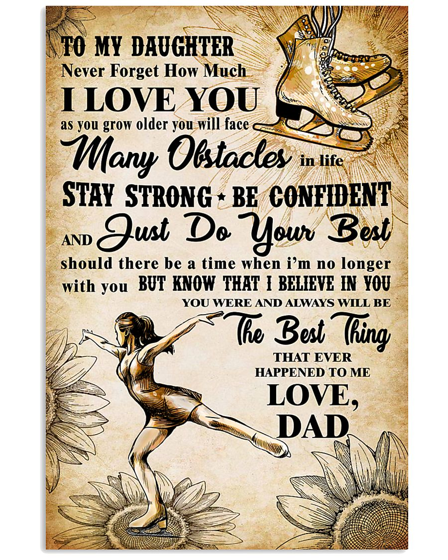 TO MY DAUGHTER - I LOVE YOU - Skating 11x17 Poster