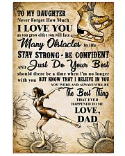 TO MY DAUGHTER - I LOVE YOU - Skating 11x17 Poster front