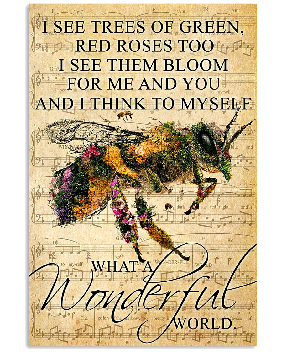 Bee - Wonderful World Poster SKY 11x17 Poster