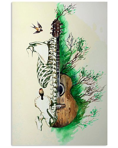 Guitar Art Skeleton Poster