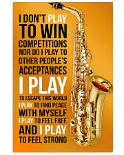 26- SAXOPHONE - I DON'T PLAY TO WIN COMPETITIONS K 11x17 Poster front