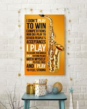 26- SAXOPHONE - I DON'T PLAY TO WIN COMPETITIONS K 11x17 Poster lifestyle-holiday-poster-3