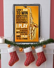 26- SAXOPHONE - I DON'T PLAY TO WIN COMPETITIONS K 11x17 Poster lifestyle-holiday-poster-4
