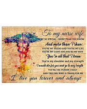 TO MY NURSE WIFE- I LOVE YOU FOREVER AND ALWAYS  17x11 Poster front