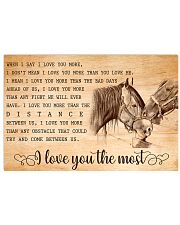 HORSE - I LOVE YOU THE MOST 17x11 Poster front