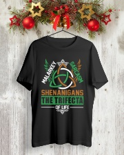SHENANIGANS THE TRIFECTA OF LIFE Classic T-Shirt lifestyle-holiday-crewneck-front-2