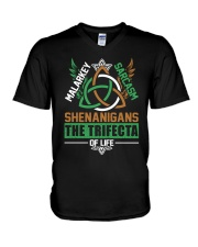SHENANIGANS THE TRIFECTA OF LIFE V-Neck T-Shirt thumbnail