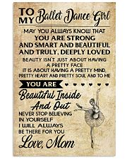 2-TO MY BALLET DANCE GIRL- MOM KD 16x24 Poster front