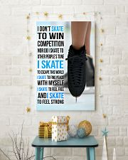 I DON'T SKATE TO WIN COMPETITION - black shoes 11x17 Poster lifestyle-holiday-poster-3