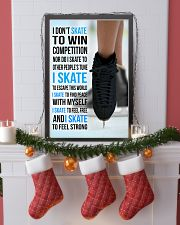 I DON'T SKATE TO WIN COMPETITION - black shoes 11x17 Poster lifestyle-holiday-poster-4