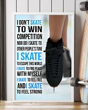 I DON'T SKATE TO WIN COMPETITION - black shoes 11x17 Poster lifestyle-poster-4